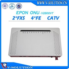 EPON FTTH 4FE + 2FXS VOIP CATV ONU optical network unit