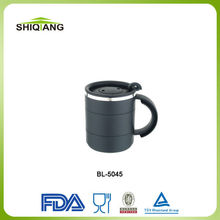 12oz high grade stainless steel inner PP outer starbucks coffee mug FDA available with handle and lid