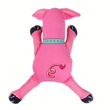 Glow in the dark pet toys ,CC054 cute donut plush squeaky dog toy for sale