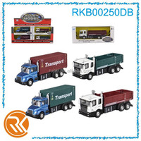 Alloy container truck toy pull back dump truck toy