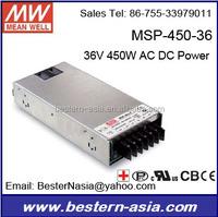 36V 450W AC DC Power Supply Meanwell MSP-450-36
