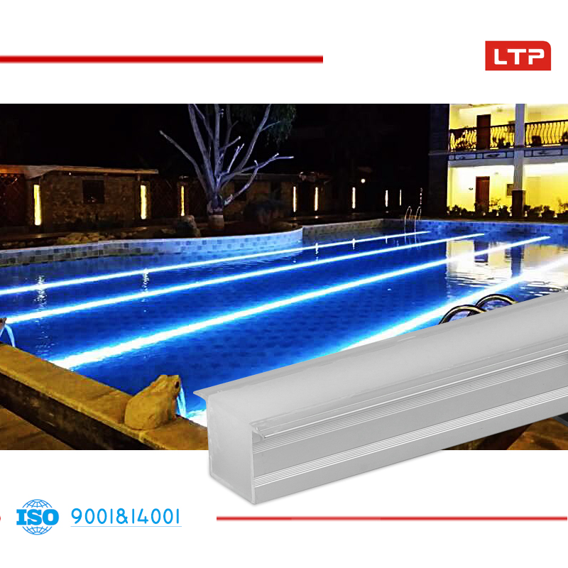 LTP LED underwater line light waterproof IP68 3000K 12W SMD5050 R/G/B/Y/W/RGB DMX512 aliminum alloy 24VDC swimming Pool lighting