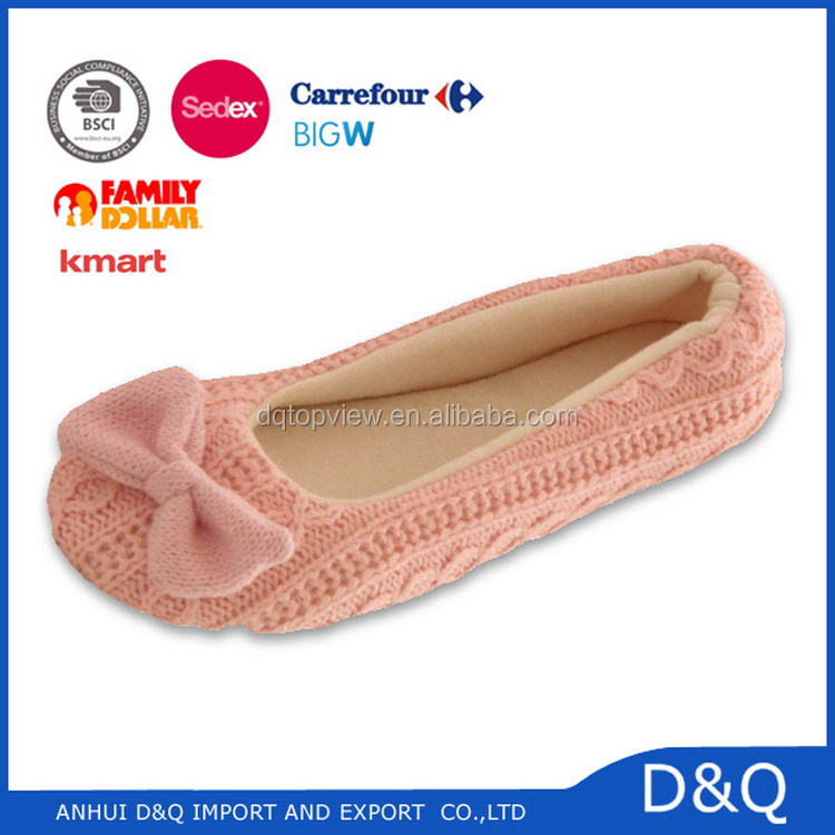 Top level high technology indoor cozy ballet slipper for mem