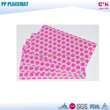 Wholesale PP PVC 3D lenticular placemat for promotion and advertising pink tomato printing