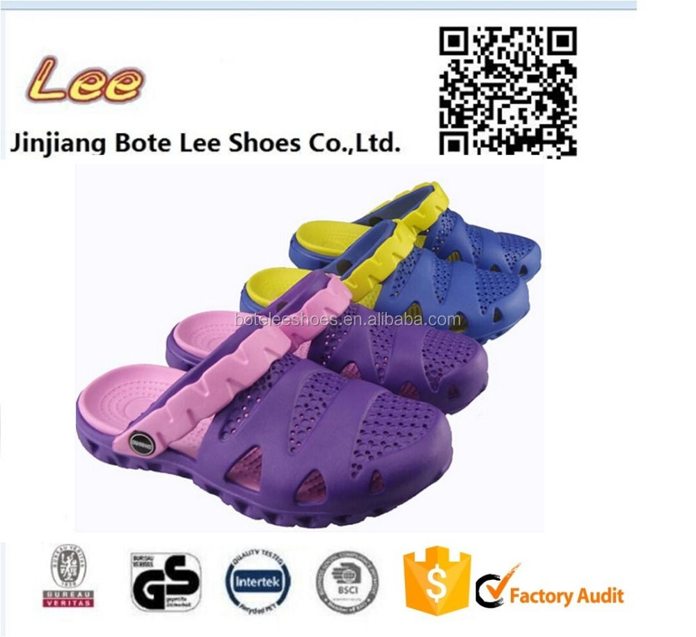 EVA Beach Garden Boat Summer Water Slip On anti slip rubber clogs ladies