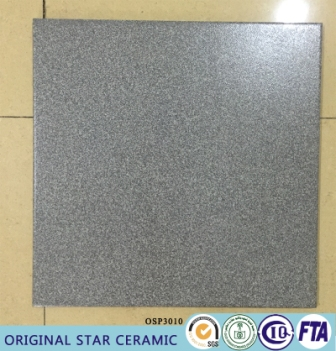 Salt And Pepper Glazed Glossy Grey Tiles With Dots