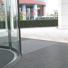 Outdoor entrance modular interlocking dust control scraper door mat