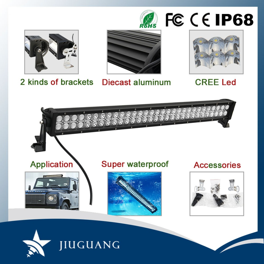 Top hardness auto parts 270w 22 inch IP68 off road led light bar for jeep