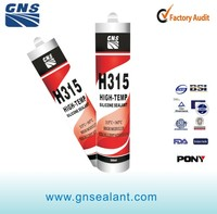 Resist 300 degree GNS silicone high temperature sealing sealant
