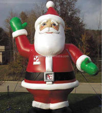 Outdoor & indoor inflatable western christmas decorations santa,fat christmas santa