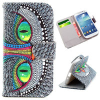 Cross Texture with Card Slots Flip Wallet Leather Case for Samsung Galaxy S4 I9500