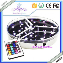Wedding Table Decoration 6inch Round Multicolor LED Light Coaster