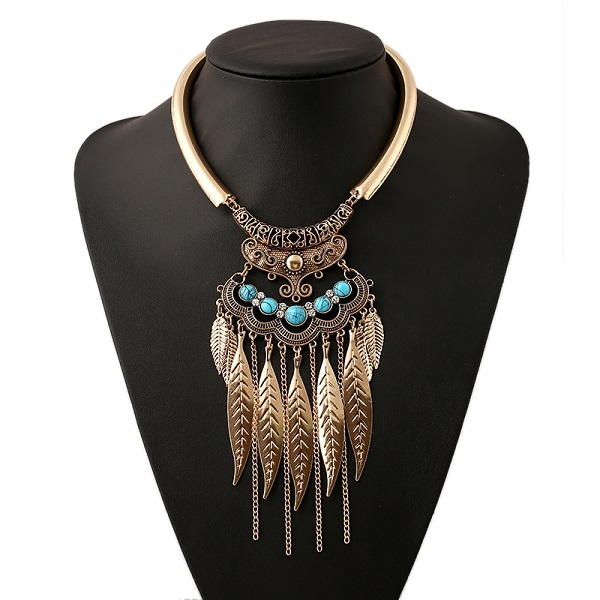 2016 new fashion bohemian necklace bijoux collar choker necklace vintage gypsy ethnic statement necklace women Maxi fine Jewelry