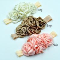 3 colors baby sister flower headbands wreaths