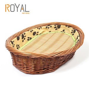 Hot sale New style Pet products Cheap novelty waterproof wholesale rattan wicker dog beds