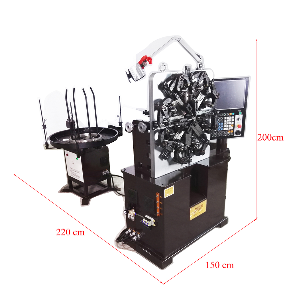 2.5 mm 3 Axis 8 Cam Automatic Spring Machine for constant force