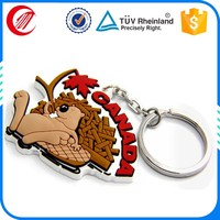 Cheap made advertising top quality 3d rubber Keychain customized