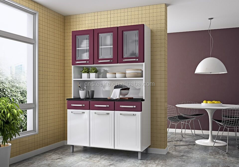 Iron kitchen cabinet new model cabinet brazil style for Ready made kitchen units for sale