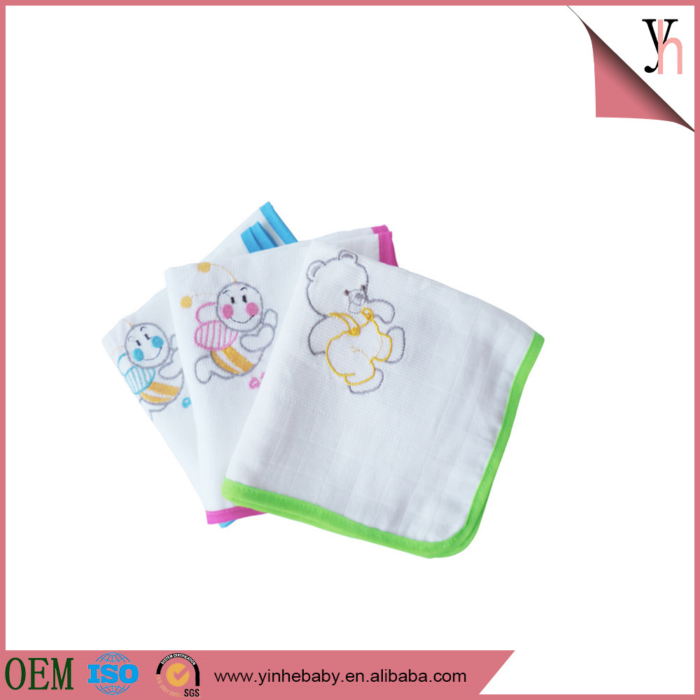Plain woven cotton washable embroidery pocket baby diaper /nappy