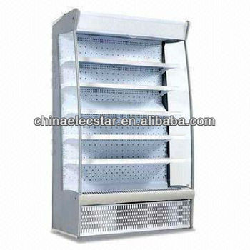 Low Front Multi-deck open air cooler with various colors LED lighting for supermarket