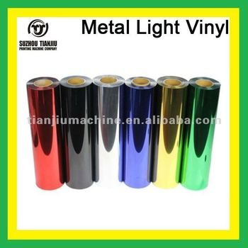 Heat transfer metal light vinyl for t-shirts