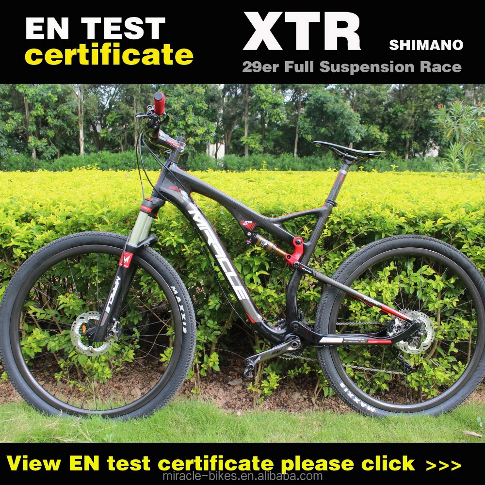 Miraclebike carbon MTB 29ER full suspension bike complete bicycle mountain Cheapest Complete Carbon MTB Bike 29er