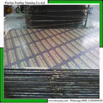 Poplar Main Material and First-Class Grade Brown Formwork 18mm Plywood