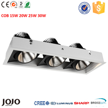15W 20W 25W 30W cob led rectangular grille downlight
