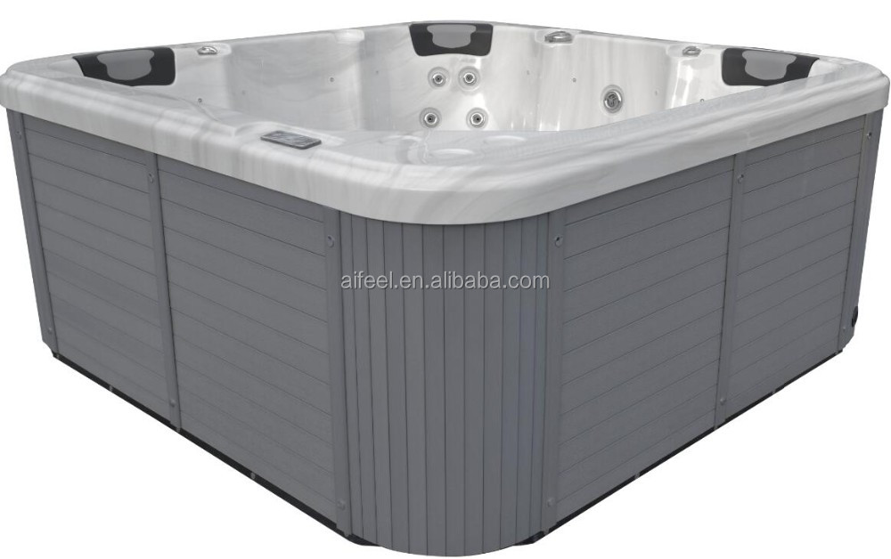 2017 Freestanding hot sale massage outdoor acrylic container spa hot tub bathtub
