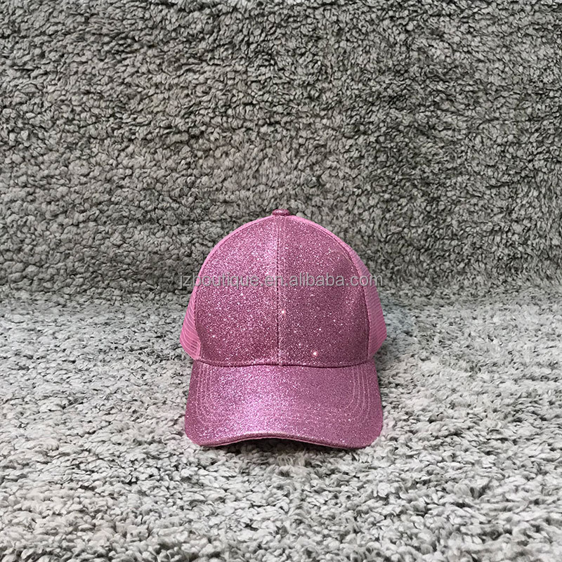 Wholesale Baseball Hat Ponytail Glitter <strong>Caps</strong>