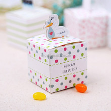 Baby Shower Gift Little Loveable Duck Toy Milk Bottle Favor Box