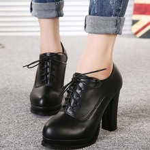 2017 spring casual style shoes high thick heel ladies boots wholesale