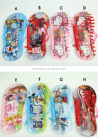 Hello/ Big Hero 6 /frozen/cars Slipper type Stationery Set 1 pencil bag+1 notebook+2 pencils+1 Rubber+1 Pencil sharpener Gifts