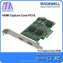 Magewell 2 channel Pro capture dual HDMI video capture card support 1080P 60fps