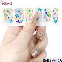 Pinpai brand nail art design decals full cover acrylic nail art sticker