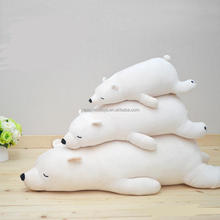 good quality beige color sleeping large plush polar bear
