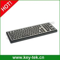 Industrial military corrosion resistance polymer keyboard with numeric keypad