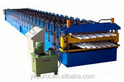 double layer manual corrugated tile manufacturing machine