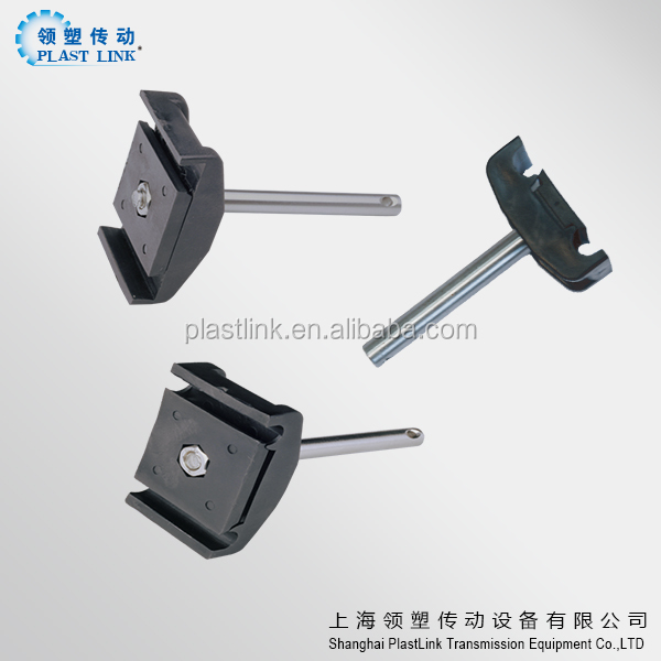 adjustable conveyor Side guide rail double clamp for round tube and rod