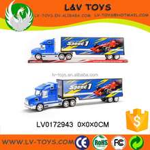 Plastic large container truck toys firction die cast car for wholesale