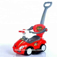 New style plastic kids ride on car baby push car with handle kids swing car