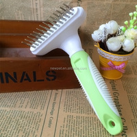 Top quality direct sale abs pet brush plastic dog brush for open knots