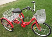 "24"" red Cargo Tricycle"