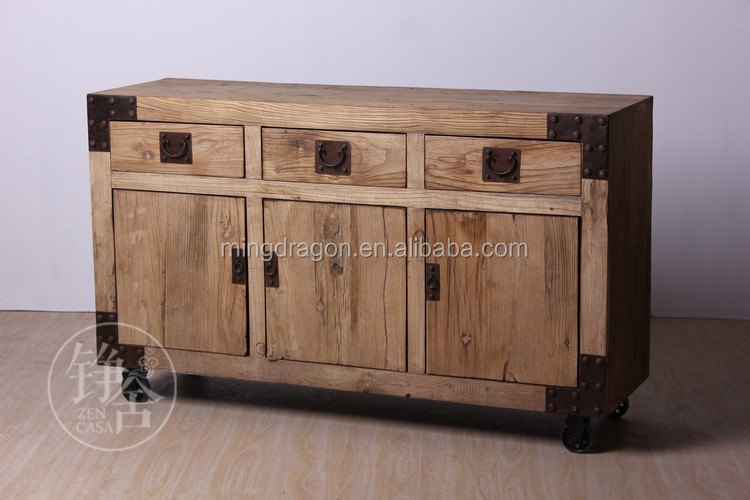 Chinese antique recycle wood book shelf industrial style furniture