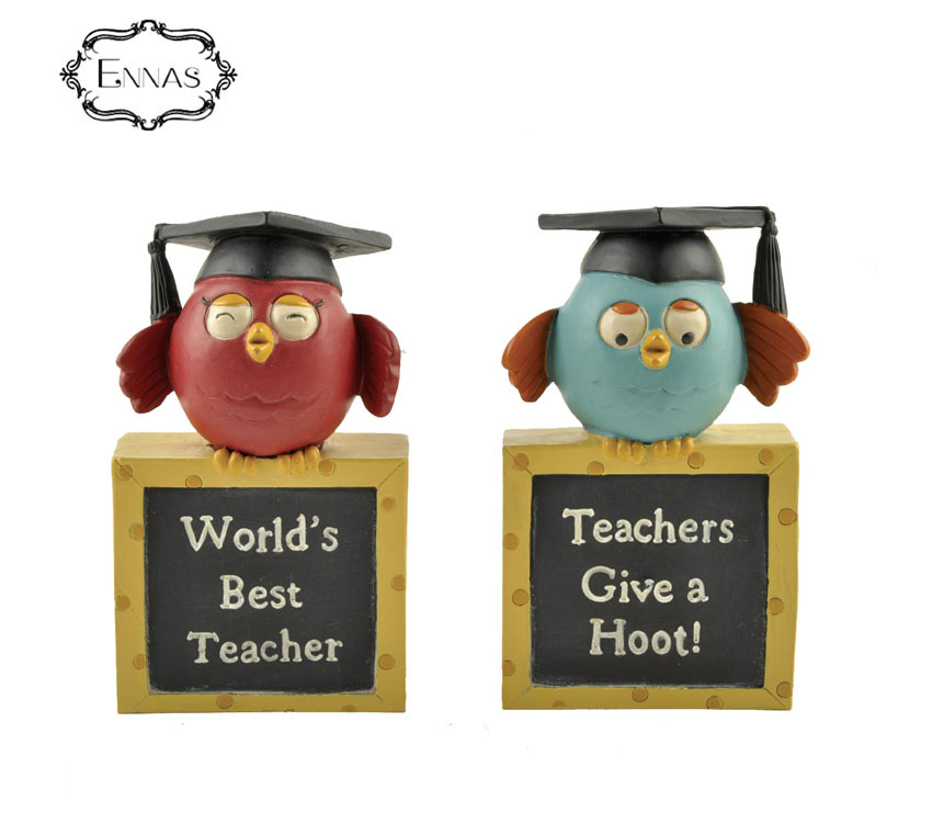 Graduation graduation souvenir 3d resin figurines bird with book