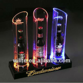 Hot sale LED acrylic wine bottle display stand