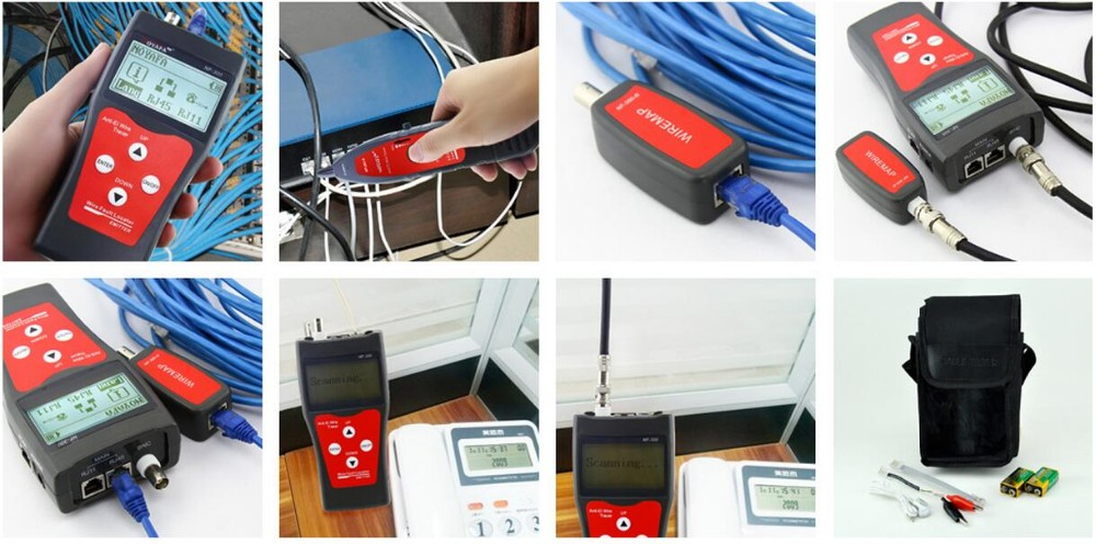 2016 New ! Anti-jamming Ethernet Cable Tester, Lan Tester Tool NF-300