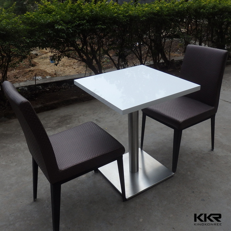 Chinese Outdoor Using Small Square Artificial Stone Dining Tables and Chairs