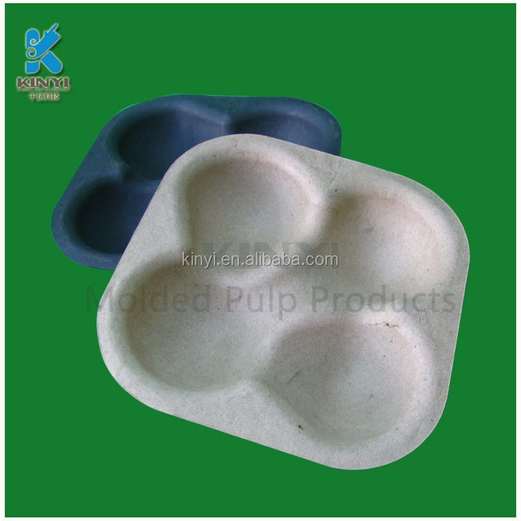Eco-friendly biodegradable molding pulp fruit trays,paper pulp molded containers