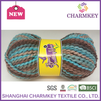 2016 new charmkey yarn 100 polyester virgin for baby yarn